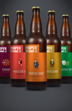 Proper Brewing Co Beer Labels